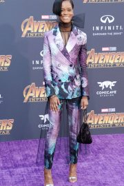 Letitia Wright Stills at Avengers: Infinity War Premiere in Los Angeles 2018/04/23 11
