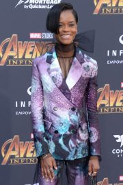 Letitia Wright Stills at Avengers: Infinity War Premiere in Los Angeles 2018/04/23 12