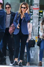 Lily James and Matt Smith Stills Out in New York 2018/04/24 2