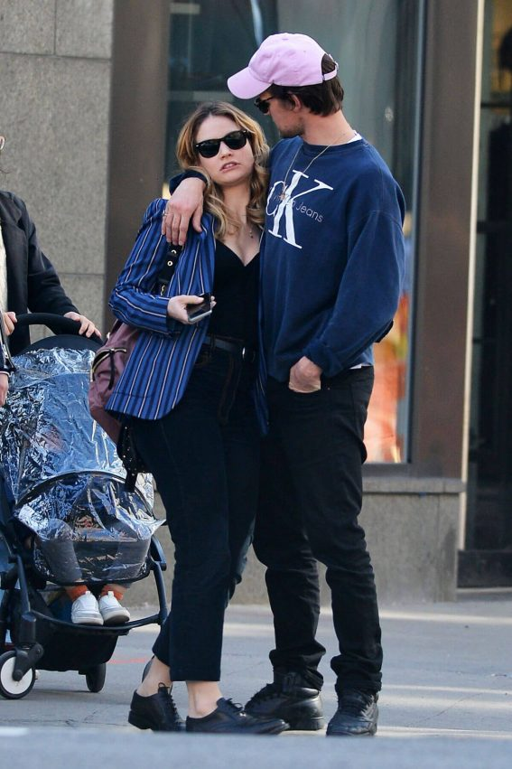 Lily James and Matt Smith Stills Out in New York 2018/04/24 3
