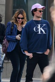 Lily James and Matt Smith Stills Out in New York 2018/04/24 4
