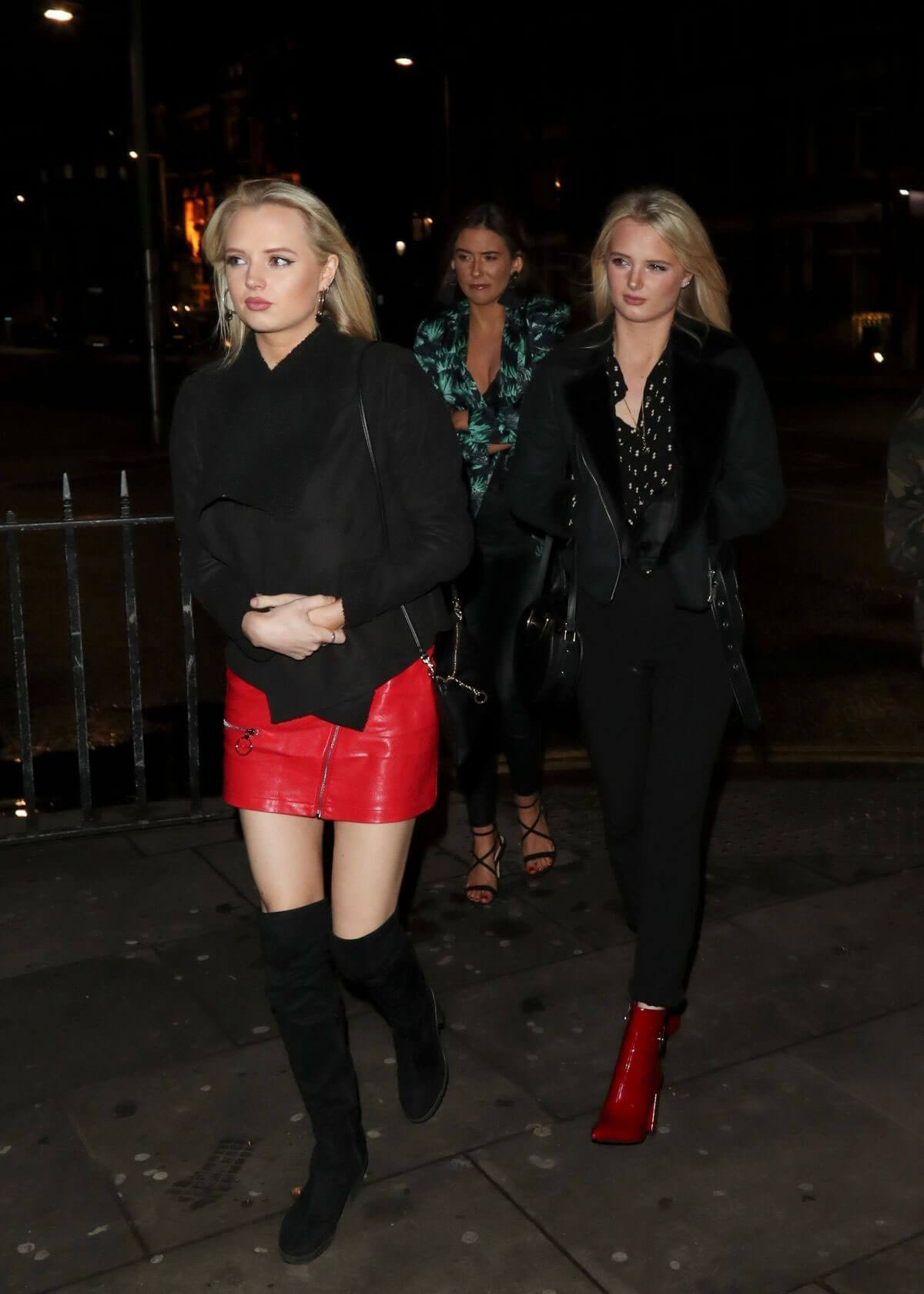 Lucy and Lydia Connell Stills Arrives at Mahiki Nightclub in Kensington 2018/03/30 2