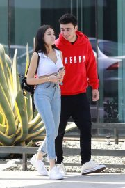Madison Beer and Zack Bia Stills Out for Lunch in Los Angeles 2018/04/21 2