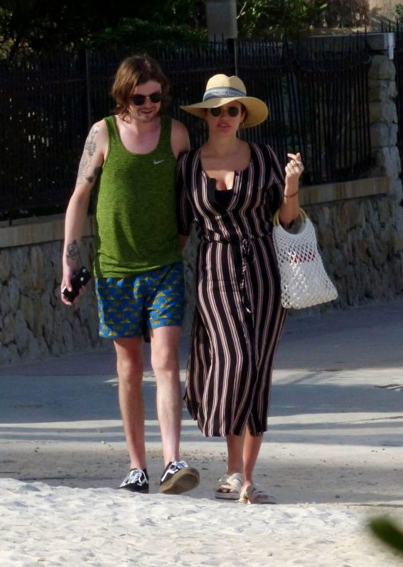 Sophie Porley and Jonny Alderton Out on the Beach in Majorca 2018/04/22 2
