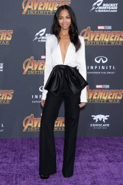 Zoe Saldana Stills at Avengers: Infinity War Premiere in Los Angeles 2018/04/23 5