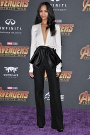 Zoe Saldana Stills at Avengers: Infinity War Premiere in Los Angeles 2018/04/23 6