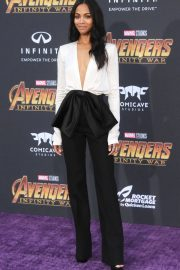 Zoe Saldana Stills at Avengers: Infinity War Premiere in Los Angeles 2018/04/23 10