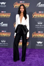 Zoe Saldana Stills at Avengers: Infinity War Premiere in Los Angeles 2018/04/23 11