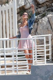 Alessandra Ambrosio Stills on the Set of a Photoshoot at Eden Roc Hotel in Antibes 2018/05/18 13