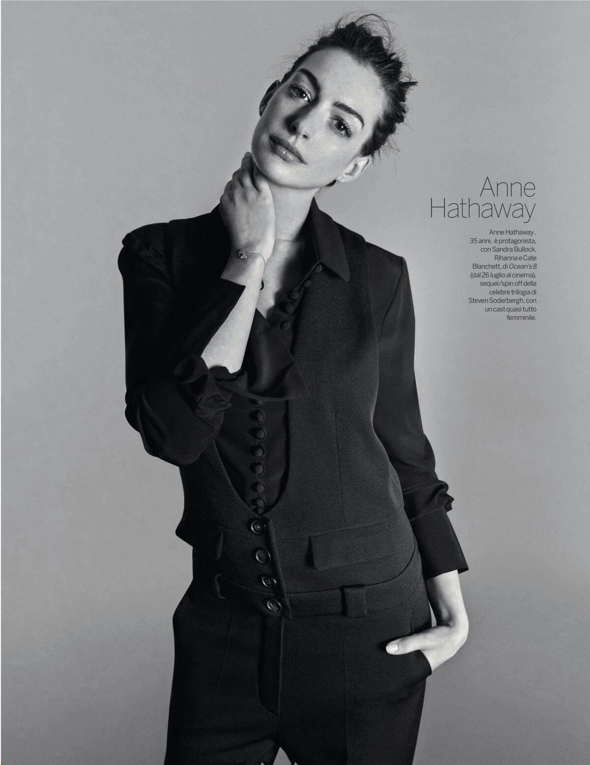 Anne Hathaway Stills in Gioia! Magazine, June 2018 Issue 1