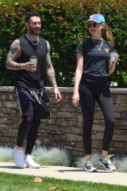 Behati Prinsloo and Adam Levine Out and About in Los Angeles 2018/05/27 11