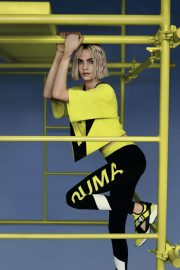 Cara Delevingne Poses for Puma Muse Cut-out Sneaker 2018 Campaign Photos 1