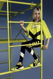 Cara Delevingne Poses for Puma Muse Cut-out Sneaker 2018 Campaign Photos 3