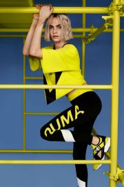 Cara Delevingne Poses for Puma Muse Cut-out Sneaker 2018 Campaign Photos 6