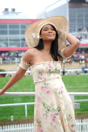Chanel Iman Stills at 143rd Preakness Stakes at Primlico Race Course in Baltimore 2018/05/19 1