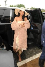 Chanel Iman Stills at 143rd Preakness Stakes at Primlico Race Course in Baltimore 2018/05/19 2