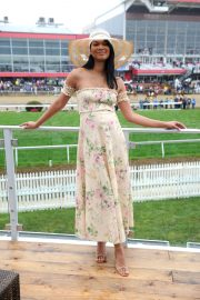 Chanel Iman Stills at 143rd Preakness Stakes at Primlico Race Course in Baltimore 2018/05/19 4