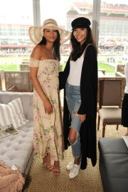 Chanel Iman Stills at 143rd Preakness Stakes at Primlico Race Course in Baltimore 2018/05/19 5