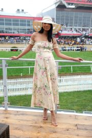 Chanel Iman Stills at 143rd Preakness Stakes at Primlico Race Course in Baltimore 2018/05/19 7