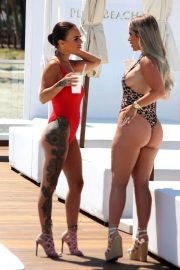 Chantelle Connelly and Lois Molloy Stills in Swimsuits at a Pool in Marbella 2018/05/08 9