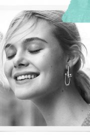 Elle Fanning Poses for Tiffany & Co Paper Flowers / Believe in Dreams Campaign 2018 Photos 1