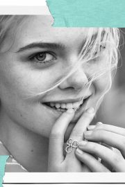 Elle Fanning Poses for Tiffany & Co Paper Flowers / Believe in Dreams Campaign 2018 Photos 2
