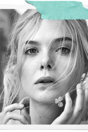 Elle Fanning Poses for Tiffany & Co Paper Flowers / Believe in Dreams Campaign 2018 Photos 3