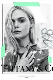 Elle Fanning Poses for Tiffany & Co Paper Flowers / Believe in Dreams Campaign 2018 Photos 5