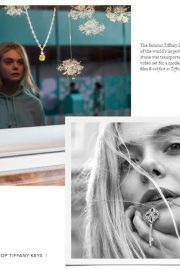 Elle Fanning Poses for Tiffany & Co Paper Flowers / Believe in Dreams Campaign 2018 Photos 7
