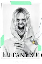 Elle Fanning Poses for Tiffany & Co Paper Flowers / Believe in Dreams Campaign 2018 Photos 11