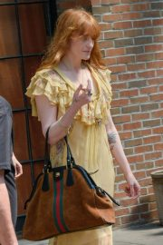 Florence Welch Stills Leaves Her Hotel in New York 2018/05/15 10