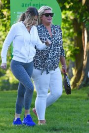 Gemma Collins Chloe Sims and Georgia Kousoulou  Stills on the Set of TOWIE in Brentwood 2018/05/15 2