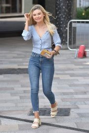 Georgia Toffolo Stills in Jeans Leaves This Morning Show in London 2018/05/23 1