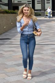 Georgia Toffolo Stills in Jeans Leaves This Morning Show in London 2018/05/23 6