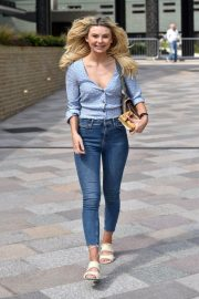 Georgia Toffolo Stills in Jeans Leaves This Morning Show in London 2018/05/23 8