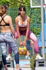 Georgina Rodriguez Workout at a Park in Madrid 2018/05/18 8