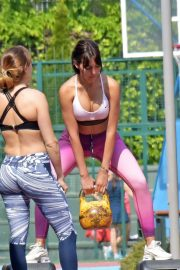 Georgina Rodriguez Workout at a Park in Madrid 2018/05/18 10