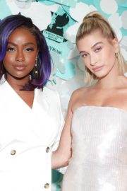 Hailey Baldwin Stills at Tiffany Paper Flowers Event in New York 2018/05/03 15