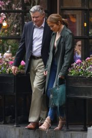 Jennifer Lopez and Treat Williams Stills on the Set of Second Act in New York 2018/05/06 1