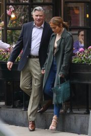 Jennifer Lopez and Treat Williams Stills on the Set of Second Act in New York 2018/05/06 2