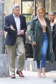 Jennifer Lopez and Treat Williams Stills on the Set of Second Act in New York 2018/05/06 3