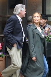 Jennifer Lopez and Treat Williams Stills on the Set of Second Act in New York 2018/05/06 5