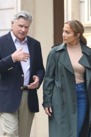 Jennifer Lopez and Treat Williams Stills on the Set of Second Act in New York 2018/05/06 6