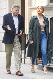 Jennifer Lopez and Treat Williams Stills on the Set of Second Act in New York 2018/05/06 9