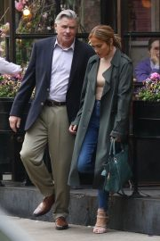 Jennifer Lopez and Treat Williams Stills on the Set of Second Act in New York 2018/05/06 12