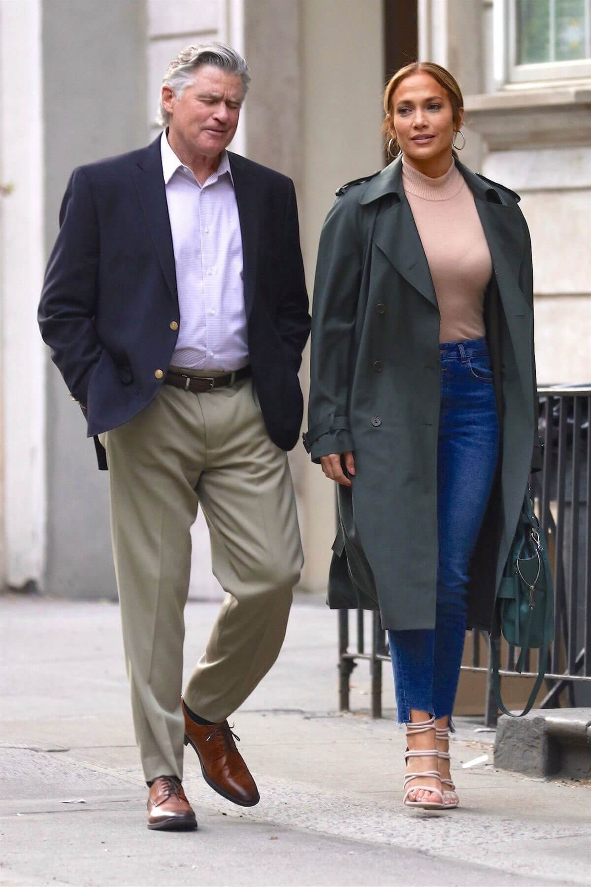 Jennifer Lopez and Treat Williams Stills on the Set of Second Act in New York 2018/05/06 13