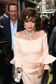 Joan Collins Stills at Hello! Magazine x Dover Street Market 30th Anniversary Party in London 2018/05/09 2