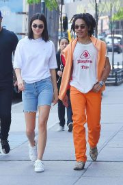 Kendall Jenner and Luka Sabbat Stills Out in New York 2018/05/09 12
