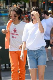 Kendall Jenner Stills in Denim Shorts Out in New York 2018/05/09 2