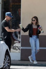 Lucy Hale and Riley Smith Stills Out in Studio City 2018/05/18 11